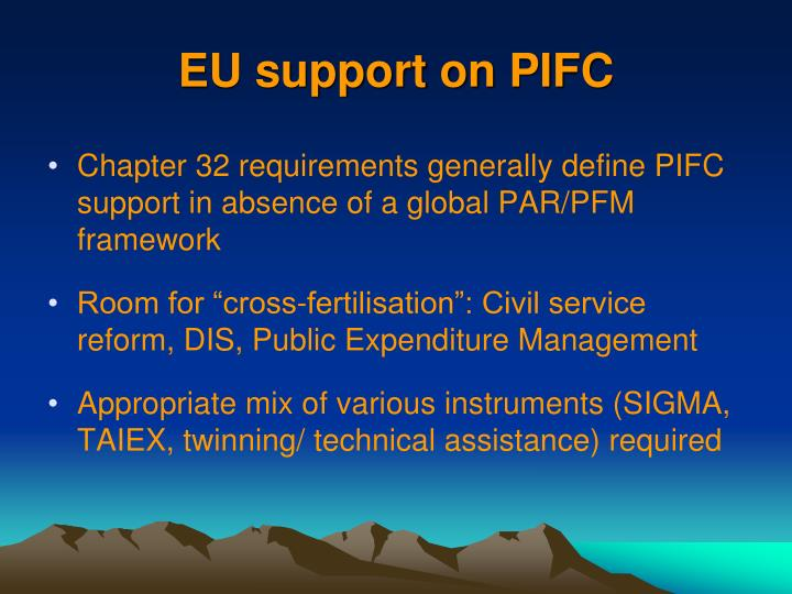 EU support on PIFC