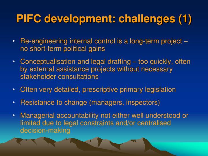 PIFC development: challenges (1)