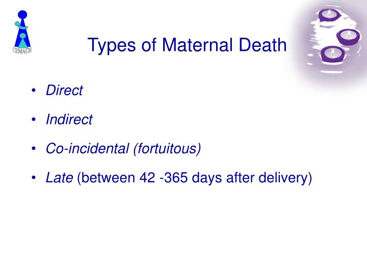 Types of Maternal Death