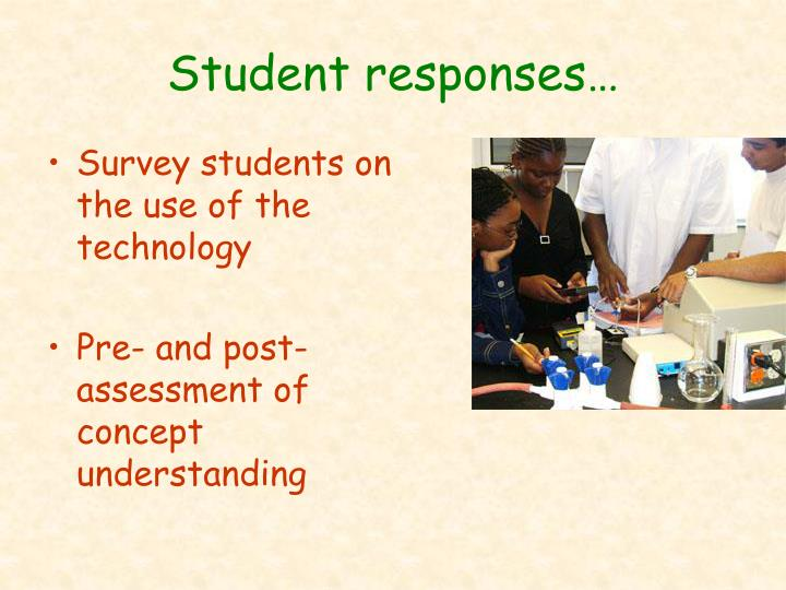 Student responses…