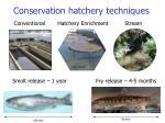 conservation hatchery techniques