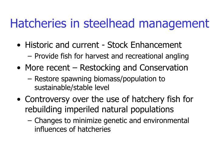 Hatcheries in steelhead management
