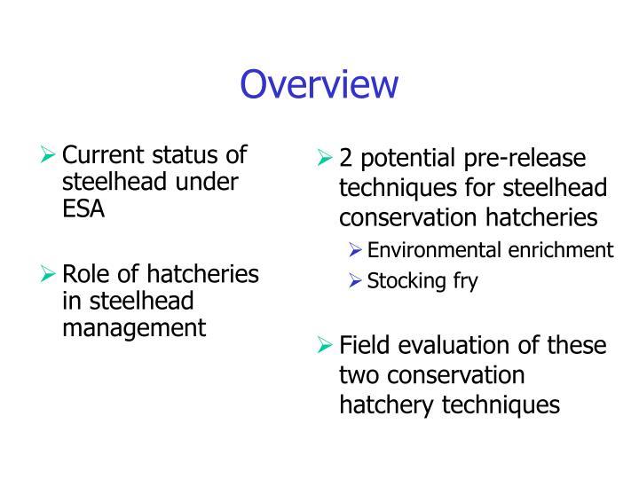 Current status of steelhead under  ESA