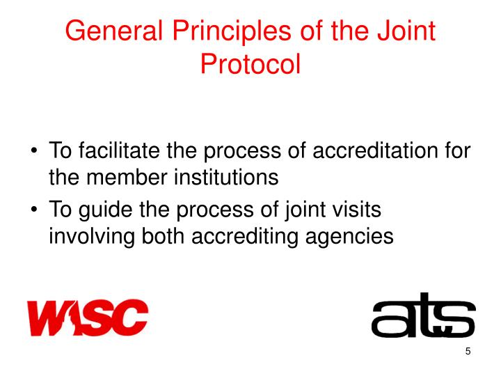 General Principles of the Joint Protocol