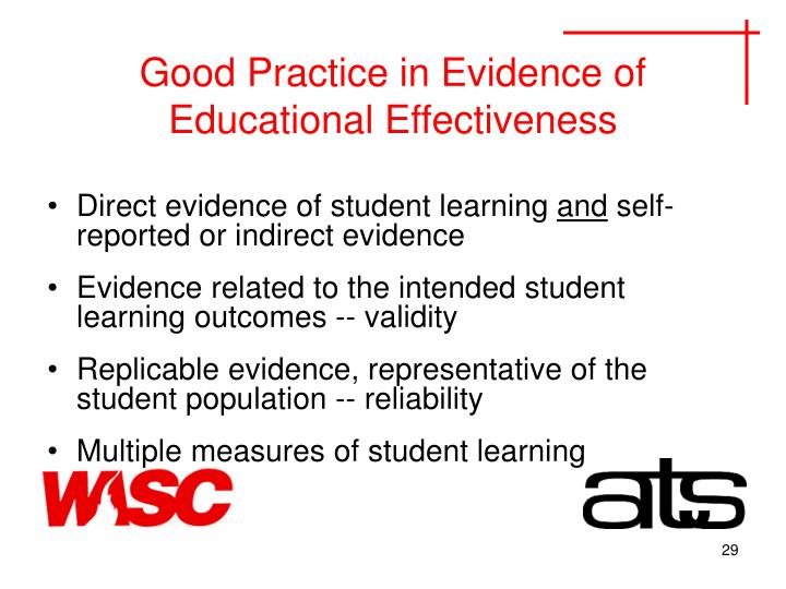 Good Practice in Evidence of