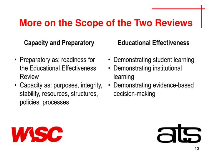 More on the Scope of the Two Reviews
