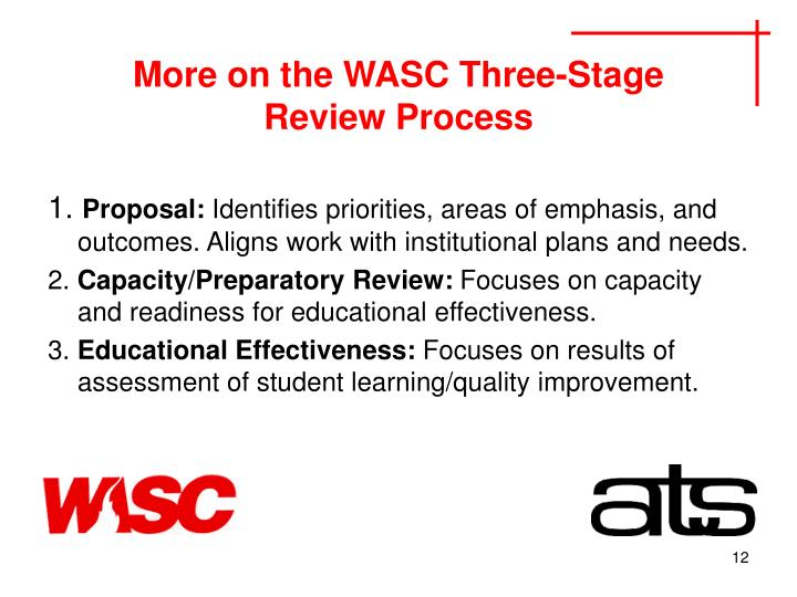 More on the WASC Three-Stage