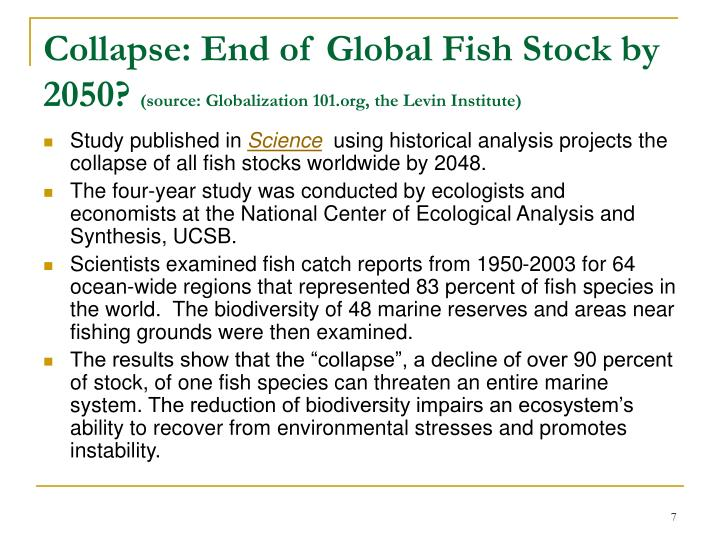 Collapse: End of Global Fish Stock by 2050?