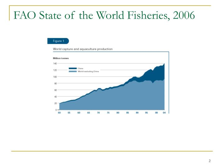 Fao state of the world fisheries 2006
