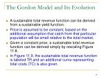 the gordon model and its evolution2
