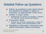 detailed follow up questions