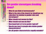 are gender stereotypes breaking down
