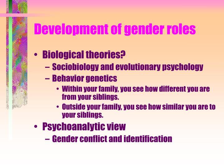 Development of gender roles