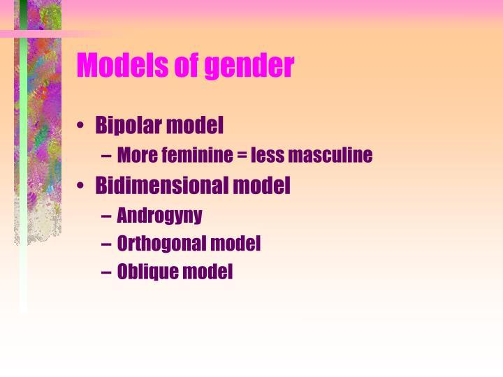 Models of gender
