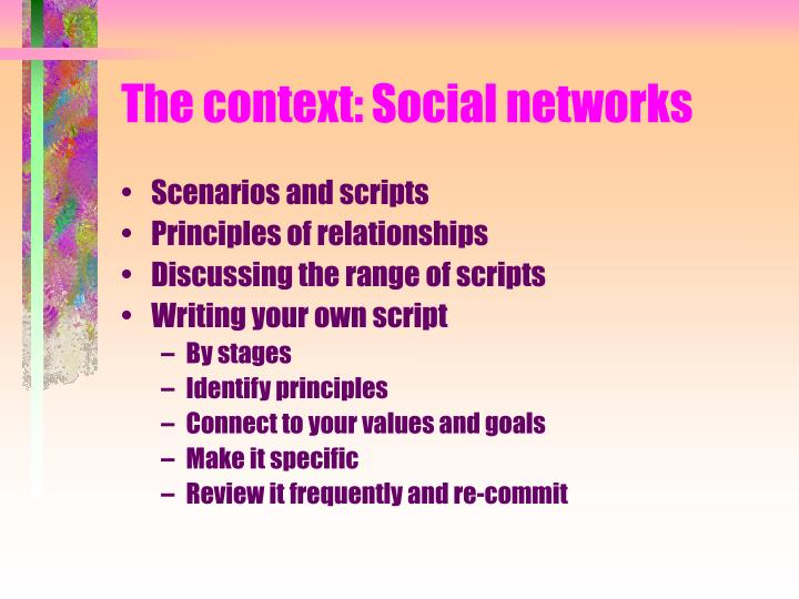 The context: Social networks
