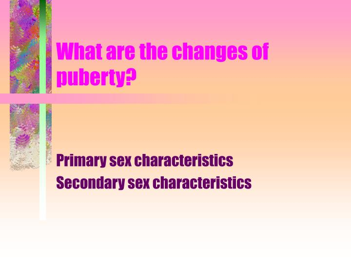 What are the changes of puberty?