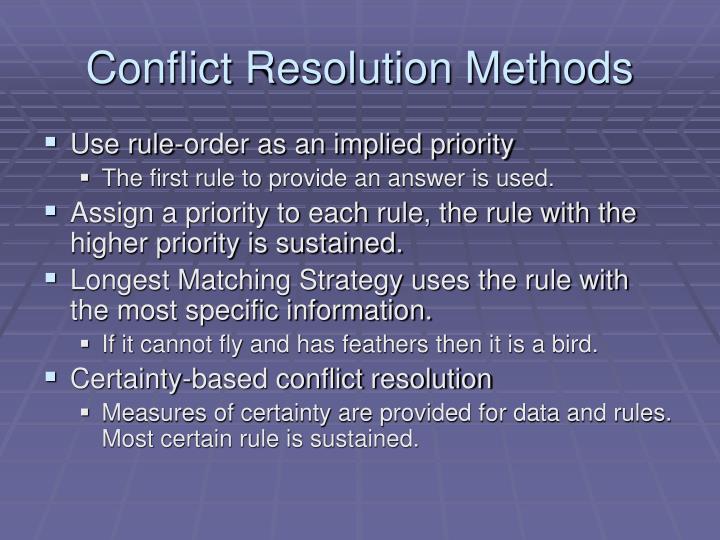 Conflict Resolution Methods