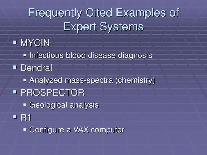Frequently Cited Examples of Expert Systems