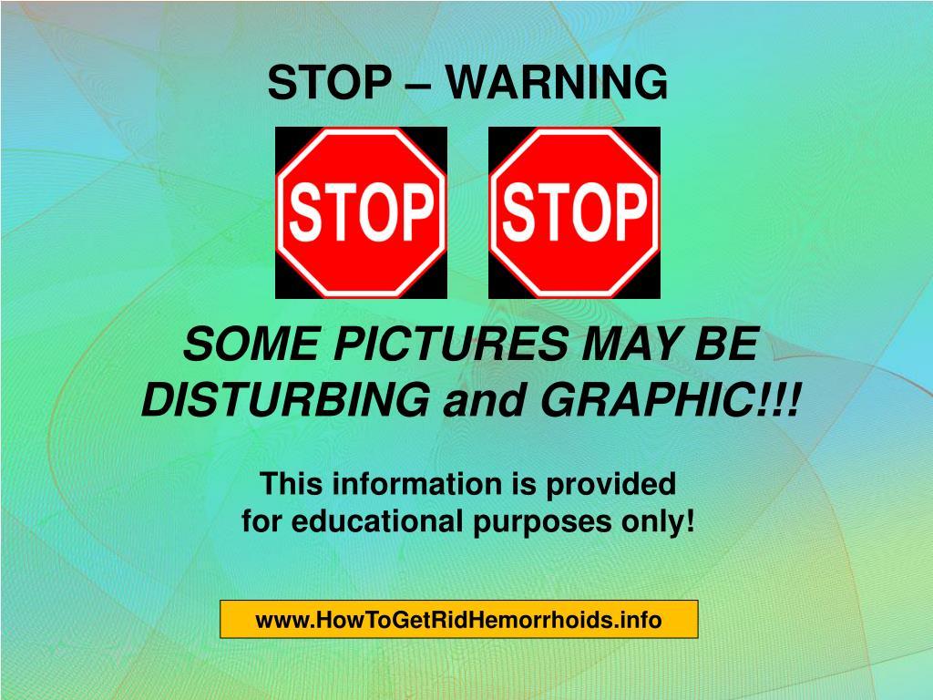 STOP – WARNING