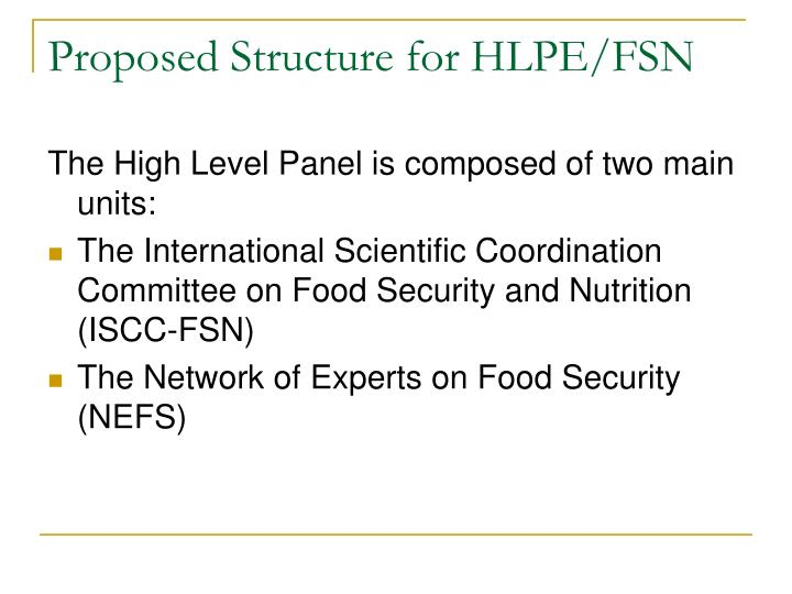 Proposed Structure for HLPE/FSN