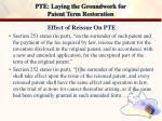 pte laying the groundwork for patent term restoration19