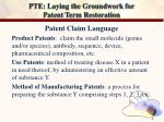 pte laying the groundwork for patent term restoration2