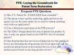 pte laying the groundwork for patent term restoration20
