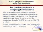 pte laying the groundwork for patent term restoration7