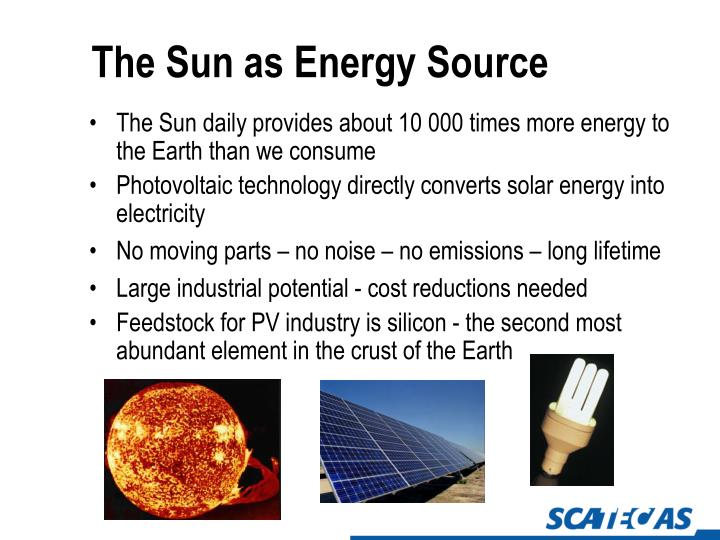 The Sun as Energy Source