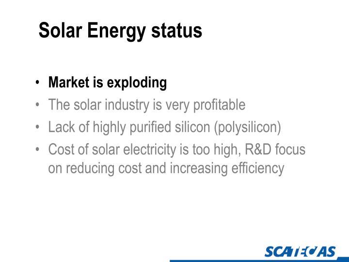 Solar Energy status