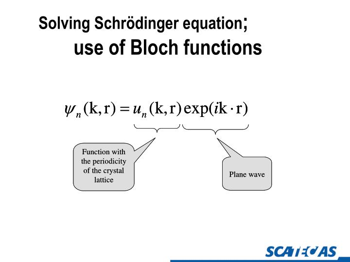 Solving Schrödinger equation