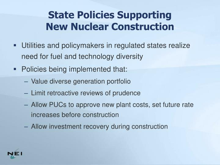 State Policies Supporting