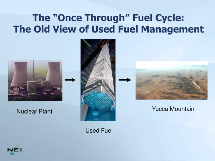 """The """"Once Through"""" Fuel Cycle:"""