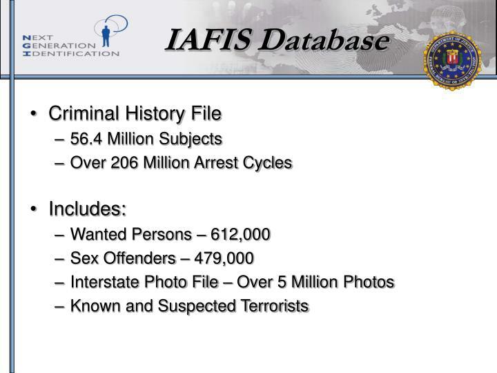 IAFIS Database