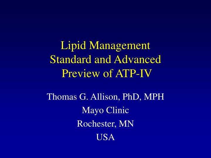 Lipid Management