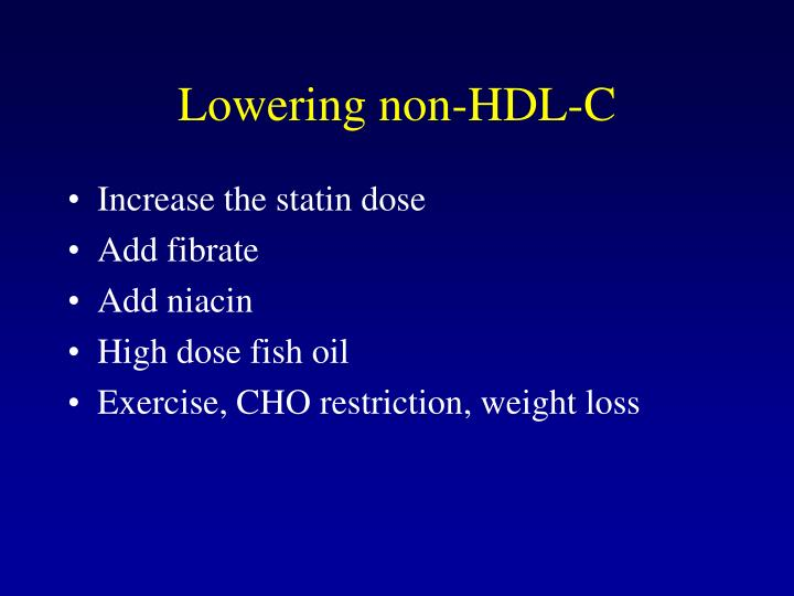 Lowering non-HDL-C