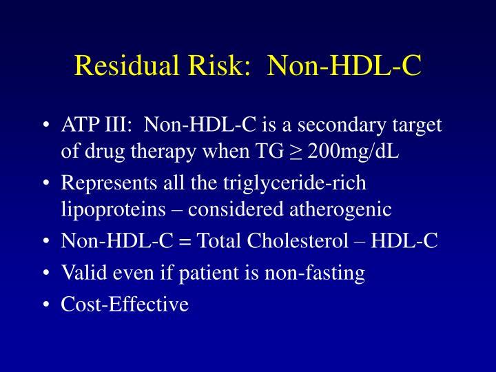 Residual Risk:  Non-HDL-C