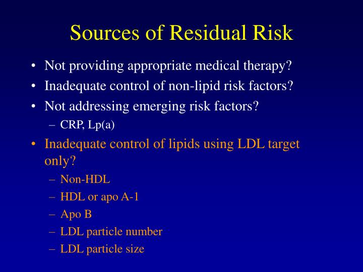 Sources of Residual Risk
