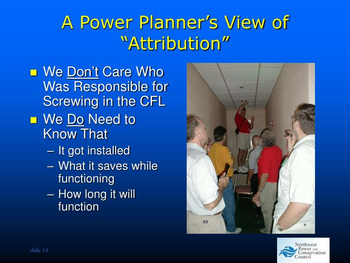 """A Power Planner's View of """"Attribution"""""""