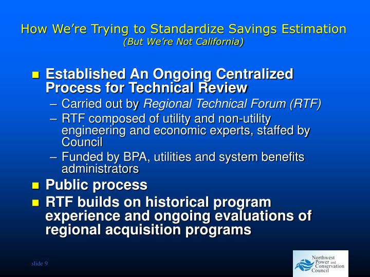 How We're Trying to Standardize Savings Estimation