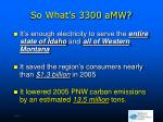 so what s 3300 amw