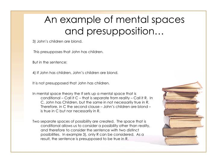 An example of mental spaces