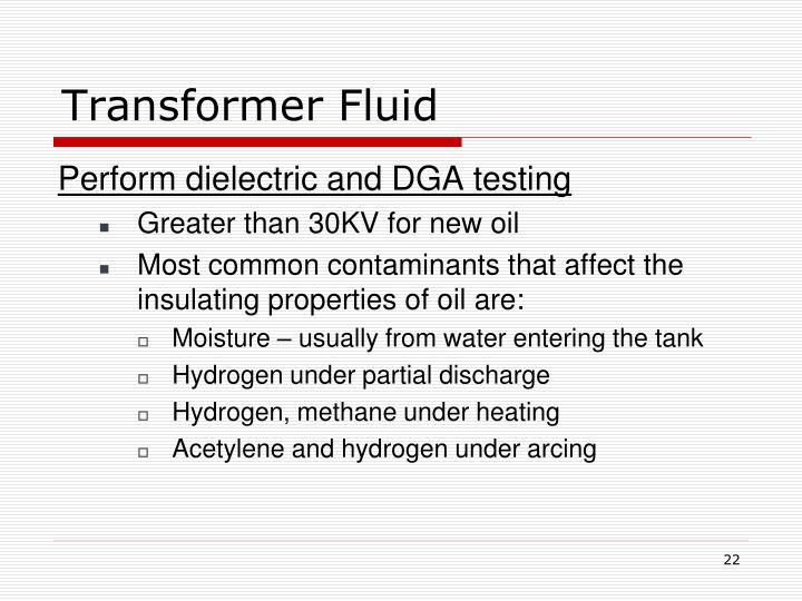 Transformer Fluid