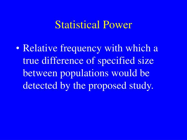 Statistical Power