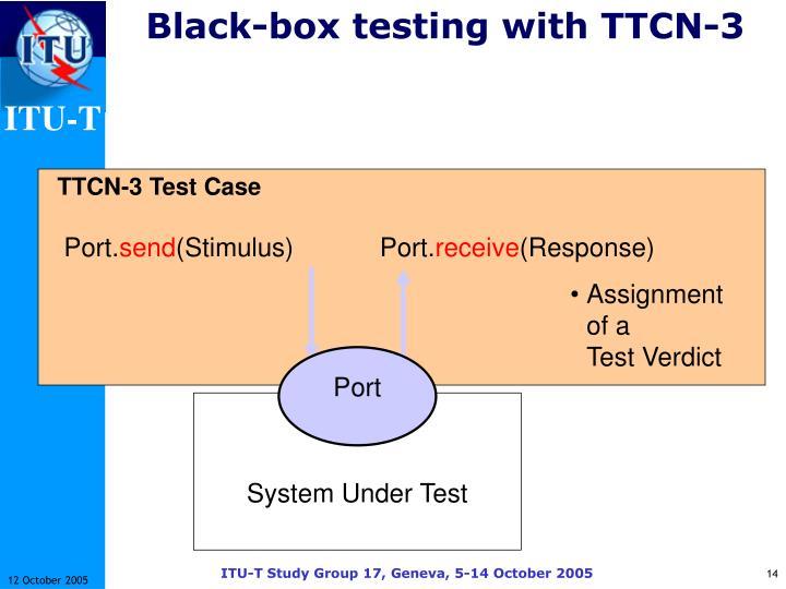 Black-box testing with TTCN-3