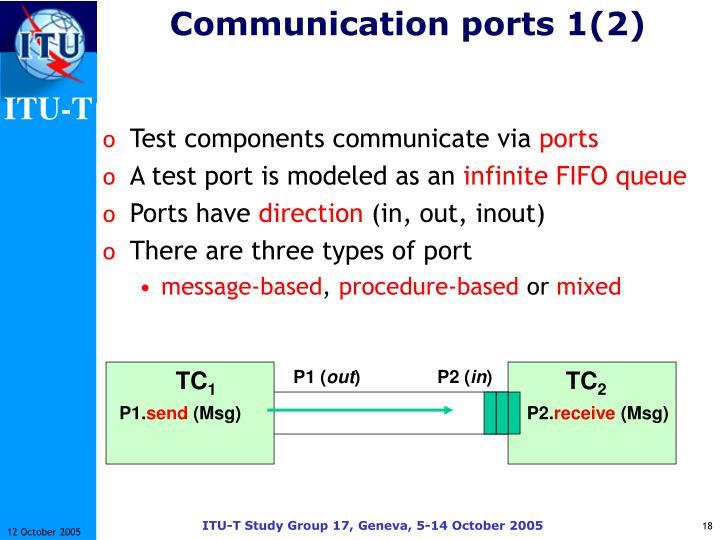 Communication ports 1(2)