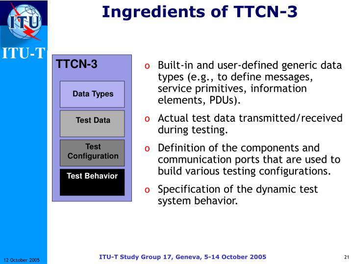 Ingredients of TTCN-3