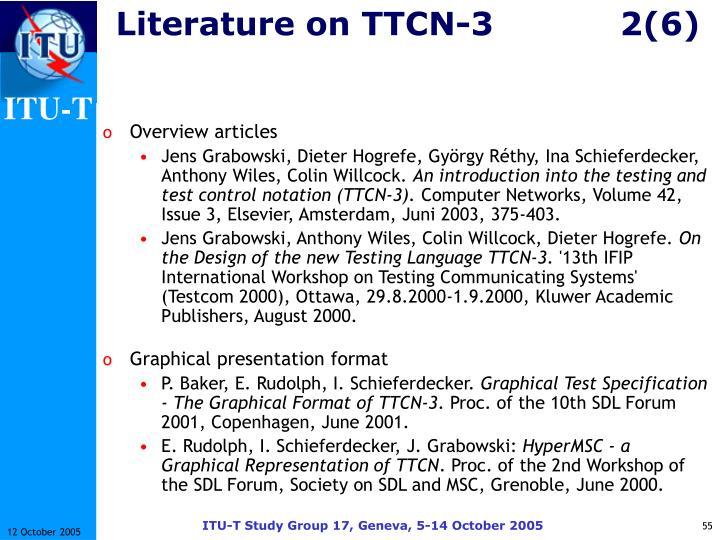 Literature on TTCN-32(6)