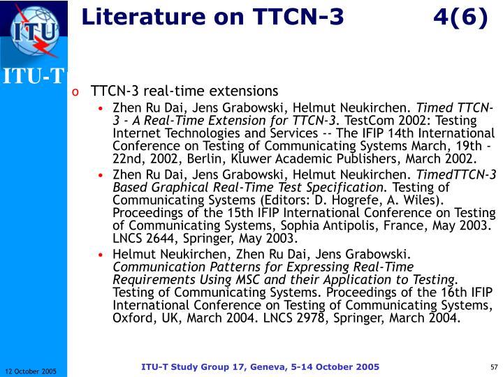 Literature on TTCN-34(6)
