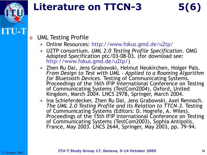 Literature on TTCN-35(6)